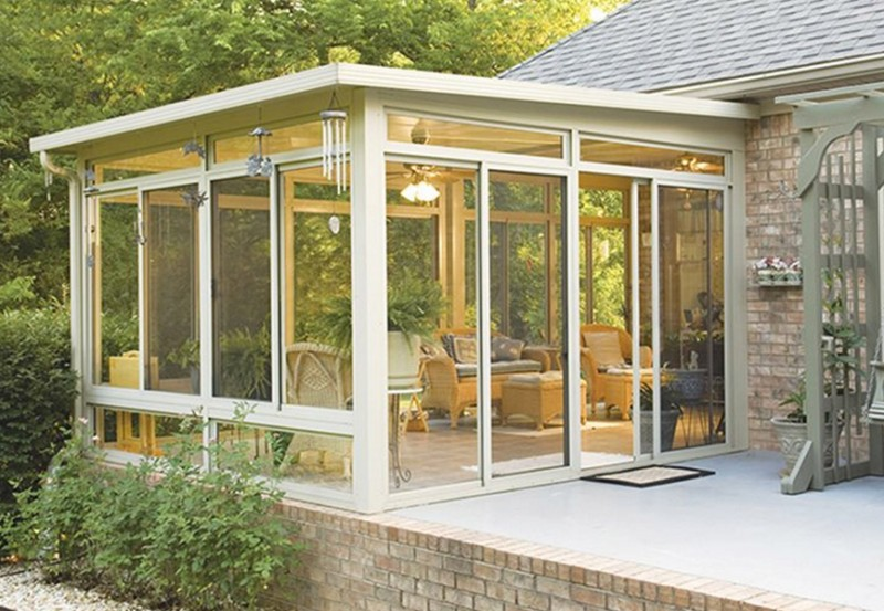 Sunroom, Flat Glass Roof