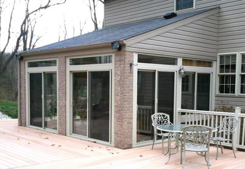 California sunroom and patio room cost for How to build a four season room