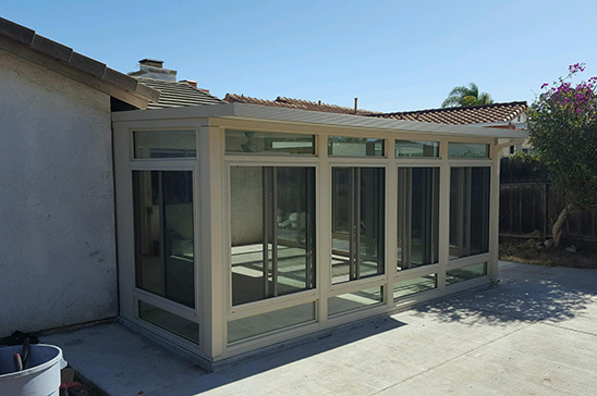 Exterior Sunroom Curved Eave California